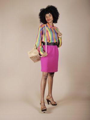 Camicia a righe multicolor colori vitaminici