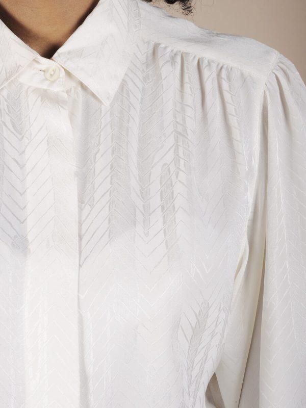 Camicia bianca spiga tono su tono 2