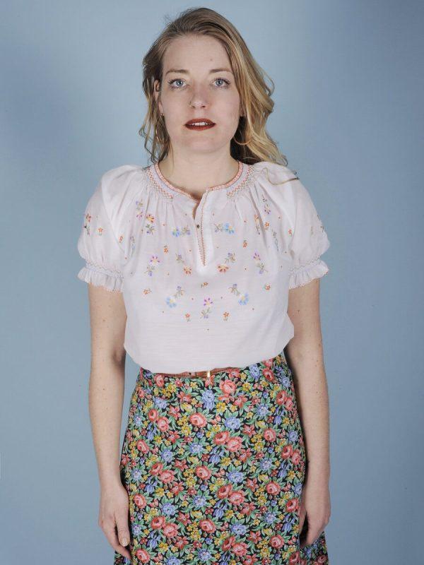 Camicia hippy a fiori romantici