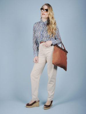 Camicia in chiffon fantasia optical