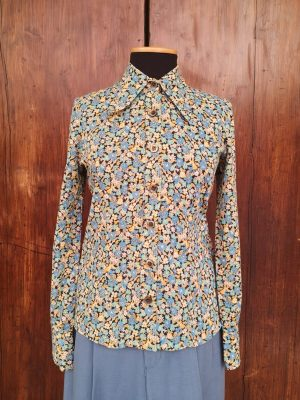 Camicia microfiori anni 70