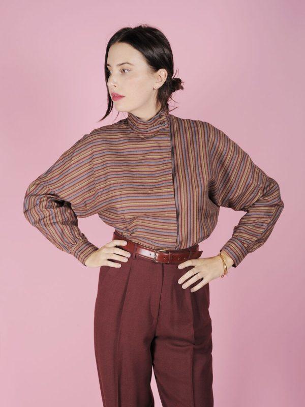 Camicia righe anni 80 vintage
