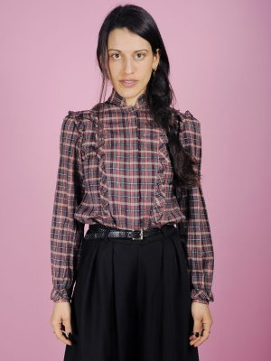 Camicia scozzese lurex
