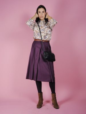 Camicia velluto paisley vintage