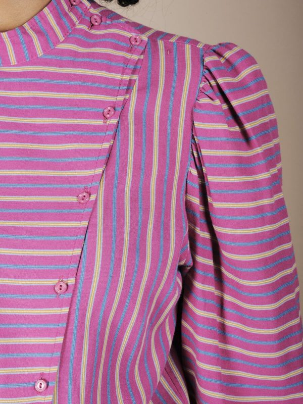 Camicie a righe colletto alla coreana 2