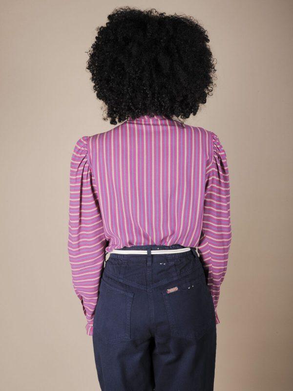 Camicie a righe colletto alla coreana 3