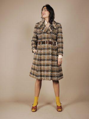 Cappotto anni 70 con cintura