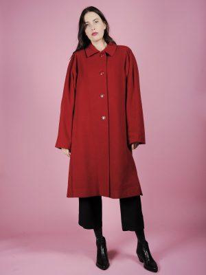 Cappotto rosso anni 80