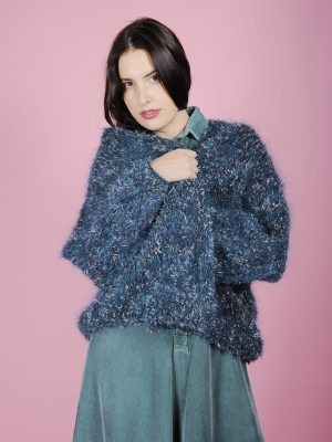 Cardigan fluffy multicolor