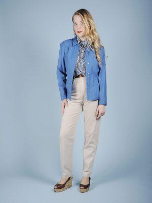 Giacca azzurra pura lana Cacharel