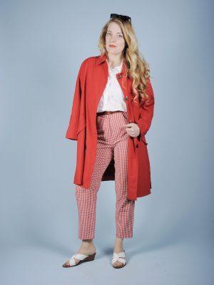 Impermeabile rosso anni 80
