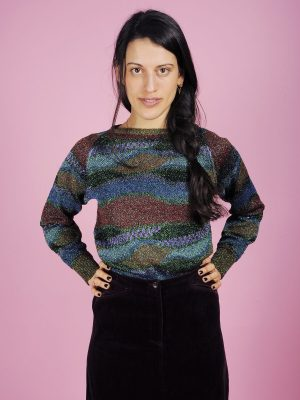 Maglia lurex multicolor