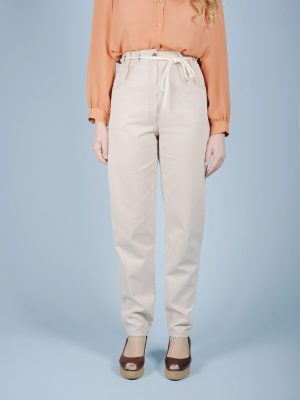 Pantalone ghiaccio con ricamo 1