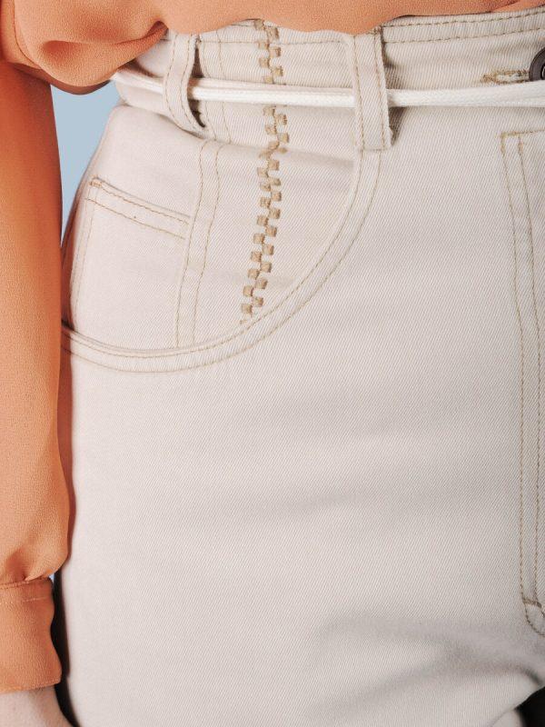 Pantalone ghiaccio con ricamo 2