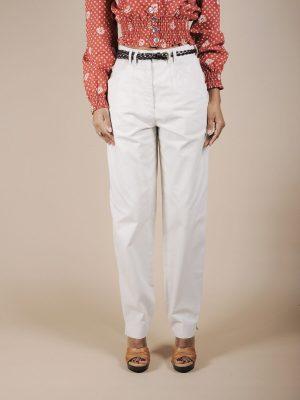 Pantalone in cotone ghiaccio
