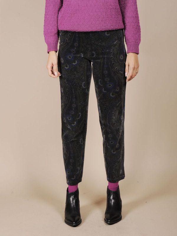 Pantalone in velluto fantasia anni 80