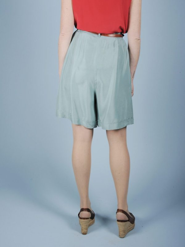 Shorts verde acqua in seta 3