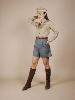 Shorts verde lana vintage