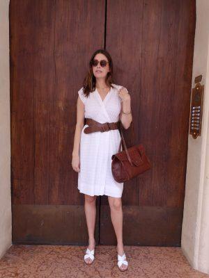 abito bianco lino