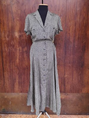 abito lungo seta margheritine