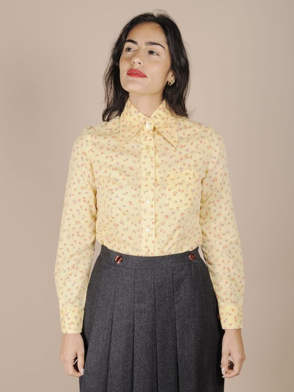 camicia anni 70 fiorellini
