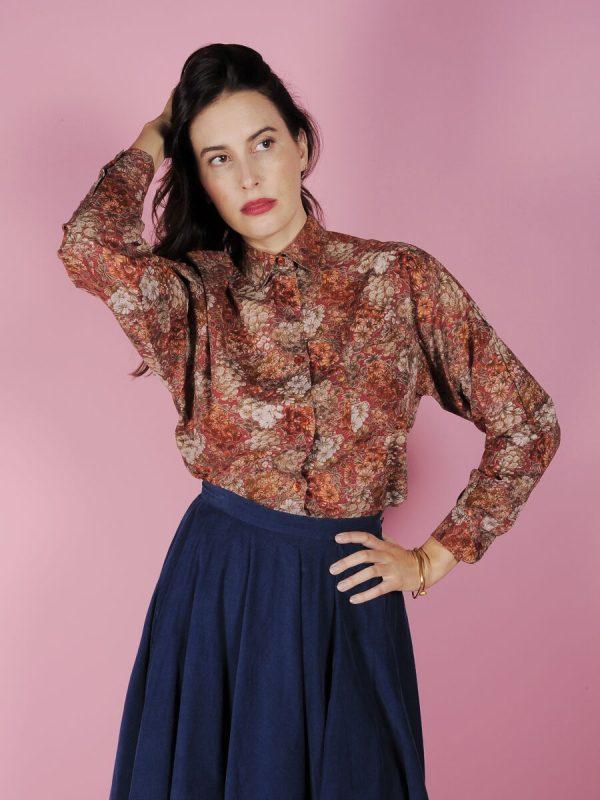 camicia floreale vintage