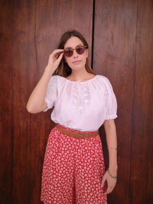 camicia hippie ricamo