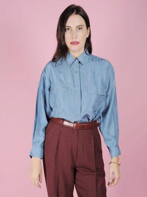 camicia seta anni 80 vintage