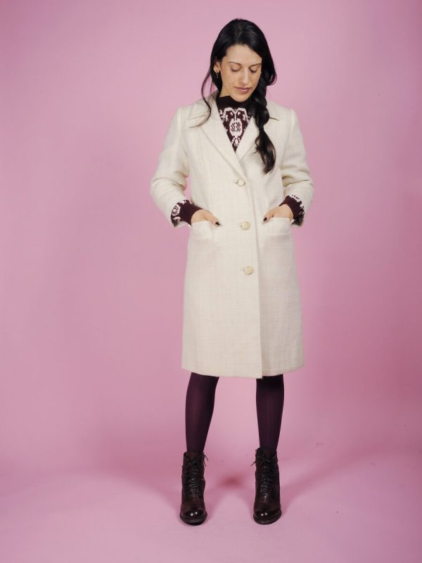cappotto bianco melange