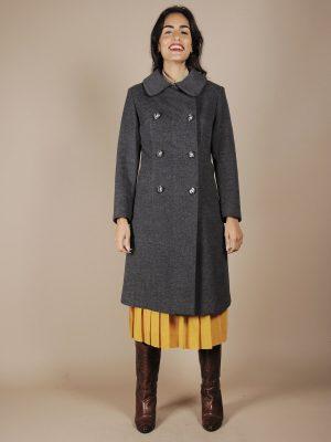 cappotto grigio doppiopetto