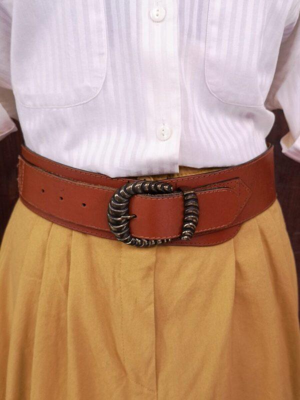 cintura alta fibbia decorata