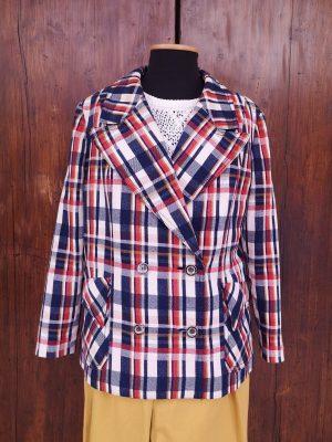 giacca cappotto scacchi