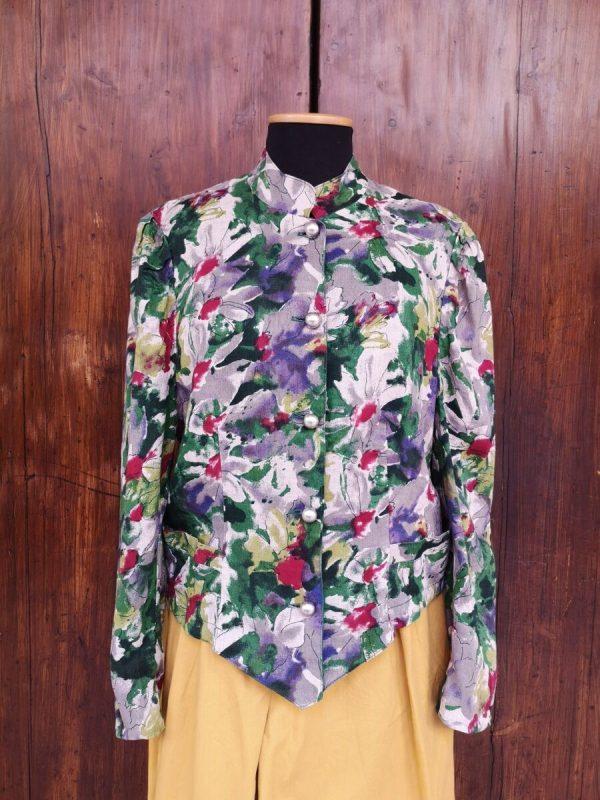 giacca coreana fiori