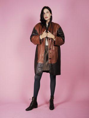 giacca pelle lunga