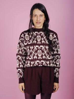 maglione norvegese bordeaux