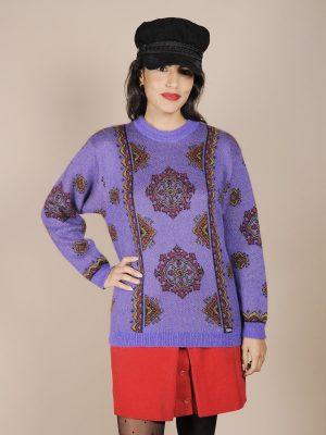 maglione viola greca