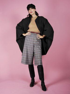 mantella lana grigia anni 80